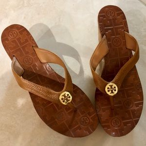 Tory Burch Wedge Leather Sandals